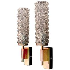 Elegant Pair of French Mid-Century Sconces