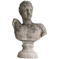 Early Concrete Bust Hermes