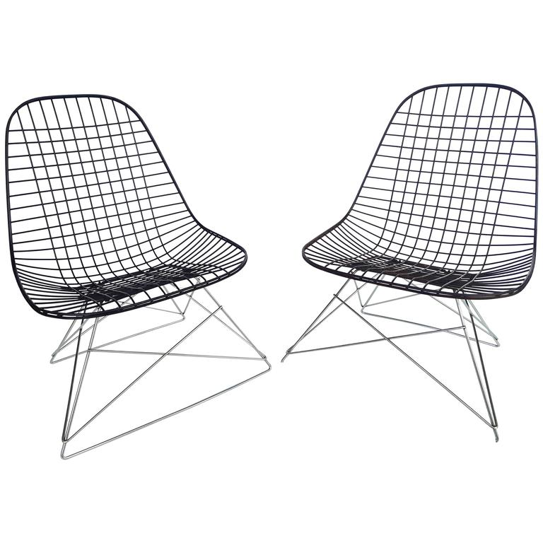 Rare Pair of Early Charles and Ray Eames LKR-2 Lounge Chair by Herman Miller