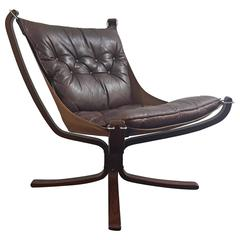 Vintage Low-Backed X-Framed Falcon Chair by Sigurd Ressell for Vatne Mobler