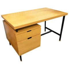 Beautiful French Pierre Guariche Ash Desk, circa 1965