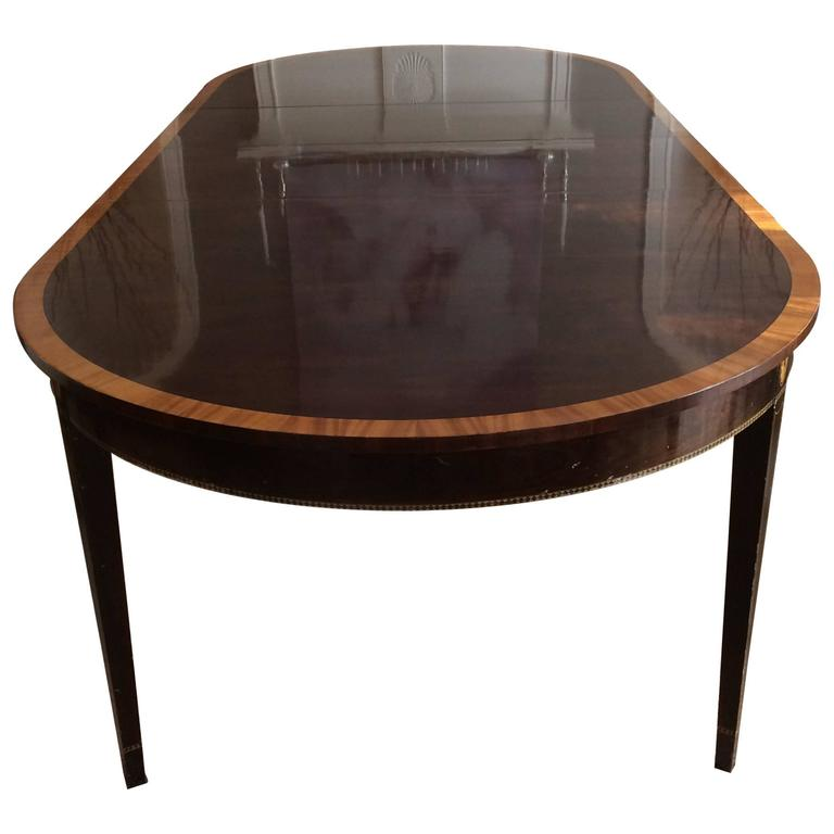 Elegant Stickley Oval Dining Table With Two Leaves At 1stdibs
