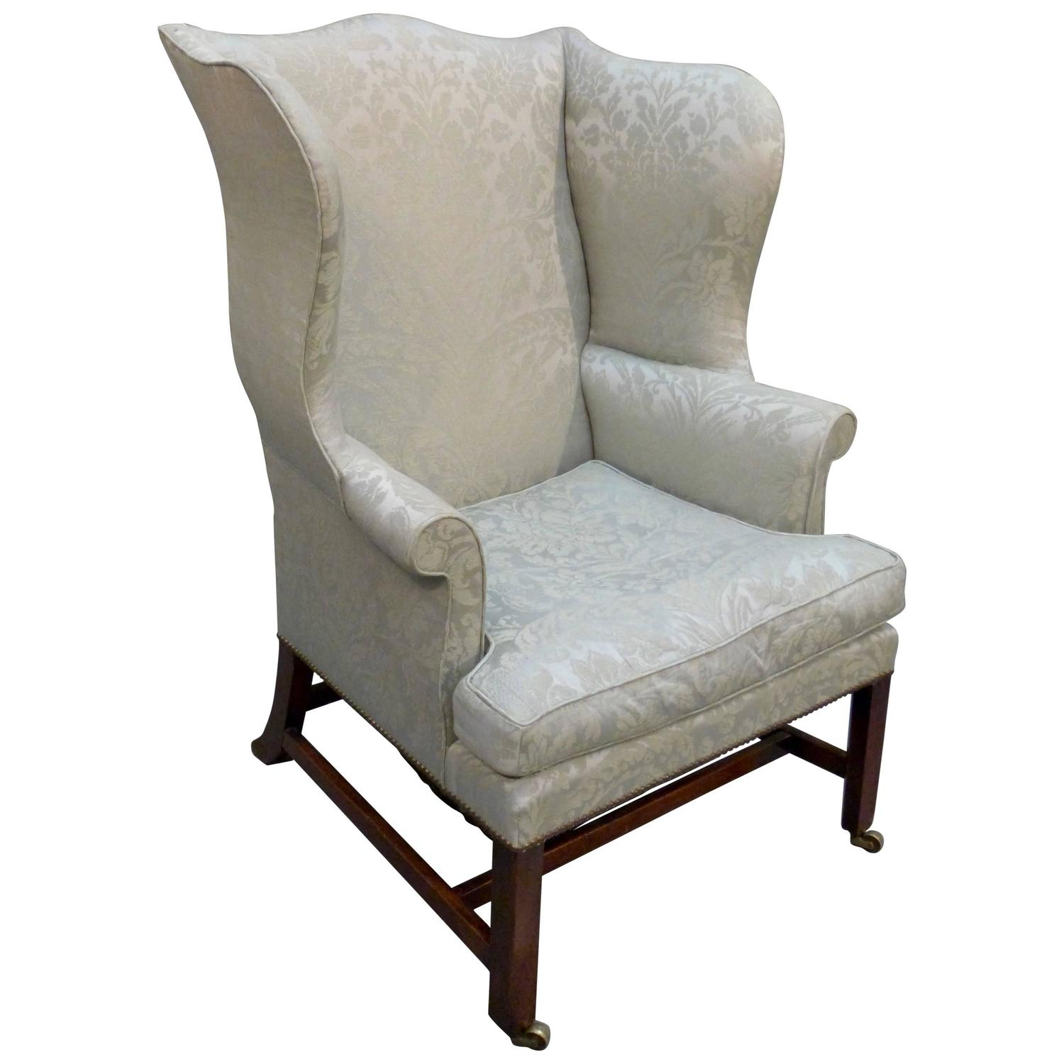 Georgian Wing Chair For Sale at 1stdibs