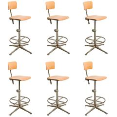 Set of Six Architect Swivel Chairs Designed by Friso Kramer