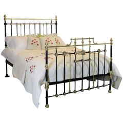 Decorative Brass and Iron Bed in Black - MK87