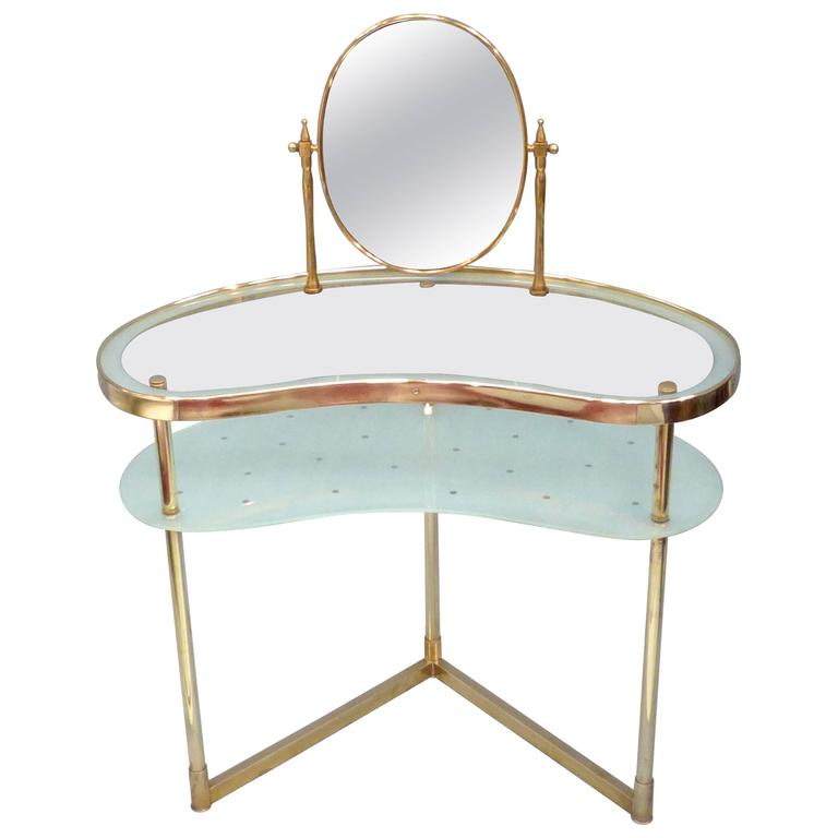 Italian Glass Dressing Table At 1stdibs