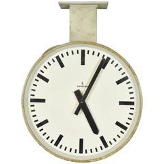 Siemens Halske Double Faced Train Station Clock