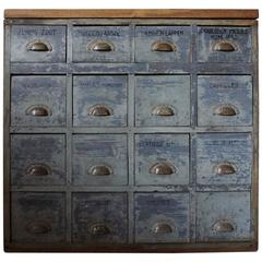 Vintage Dutch Apothecary Bank of Drawers, 1950s