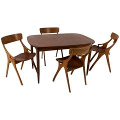 Stylish Mid-Century Modern Dining Room Set by Arne Hovmand-Olsen