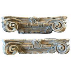 Vintage Carved Capitals, circa 18th Century