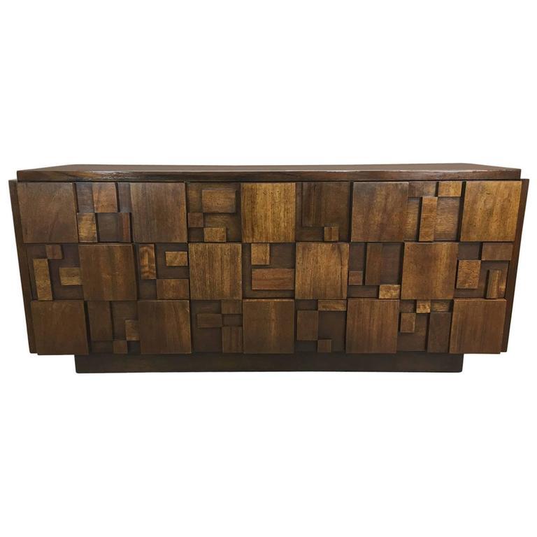 Brutalist Nine Drawer Dresser By Lane At 1stdibs