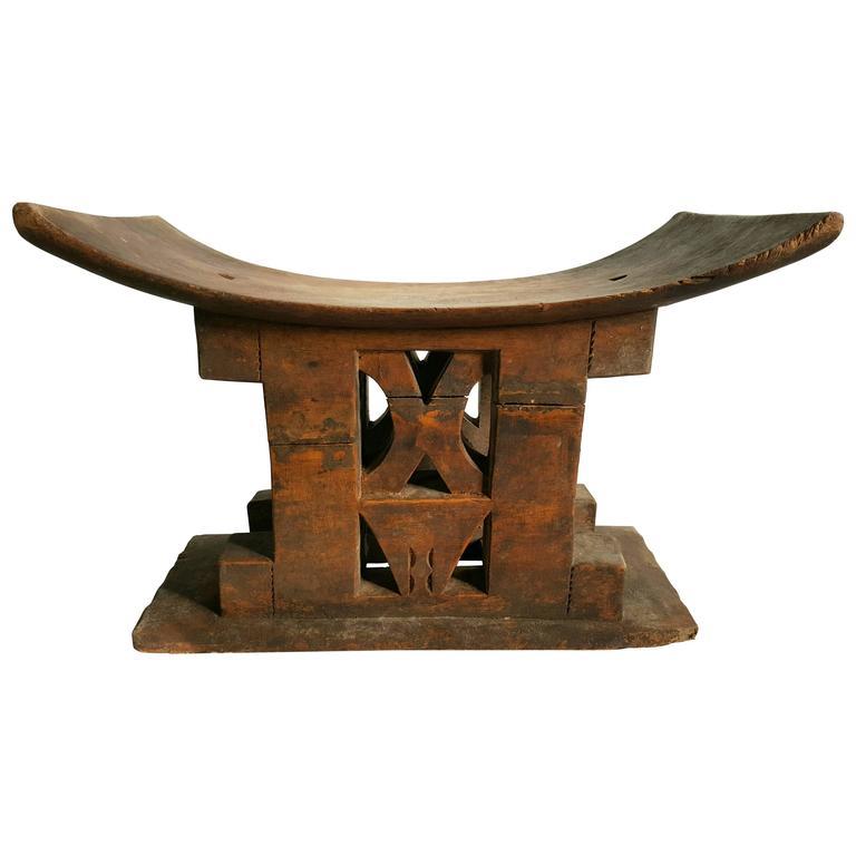 Italian Leather Furniture South Africa: African Ashanti Wood Stool, Ghana, Circa 1920s At 1stdibs