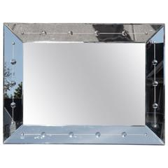 Mirror Hollywood Regency Beveled Glass