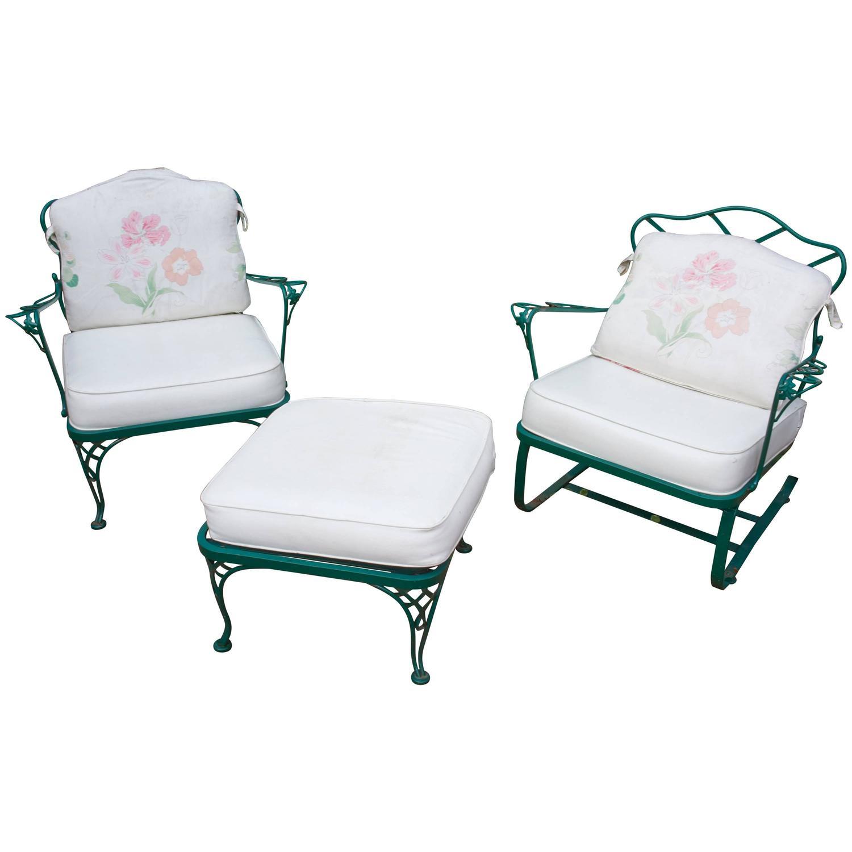 Mid Century Outdoor Furniture: Mid-Century Modern Russell Woodard Outdoor Rocker, Chair
