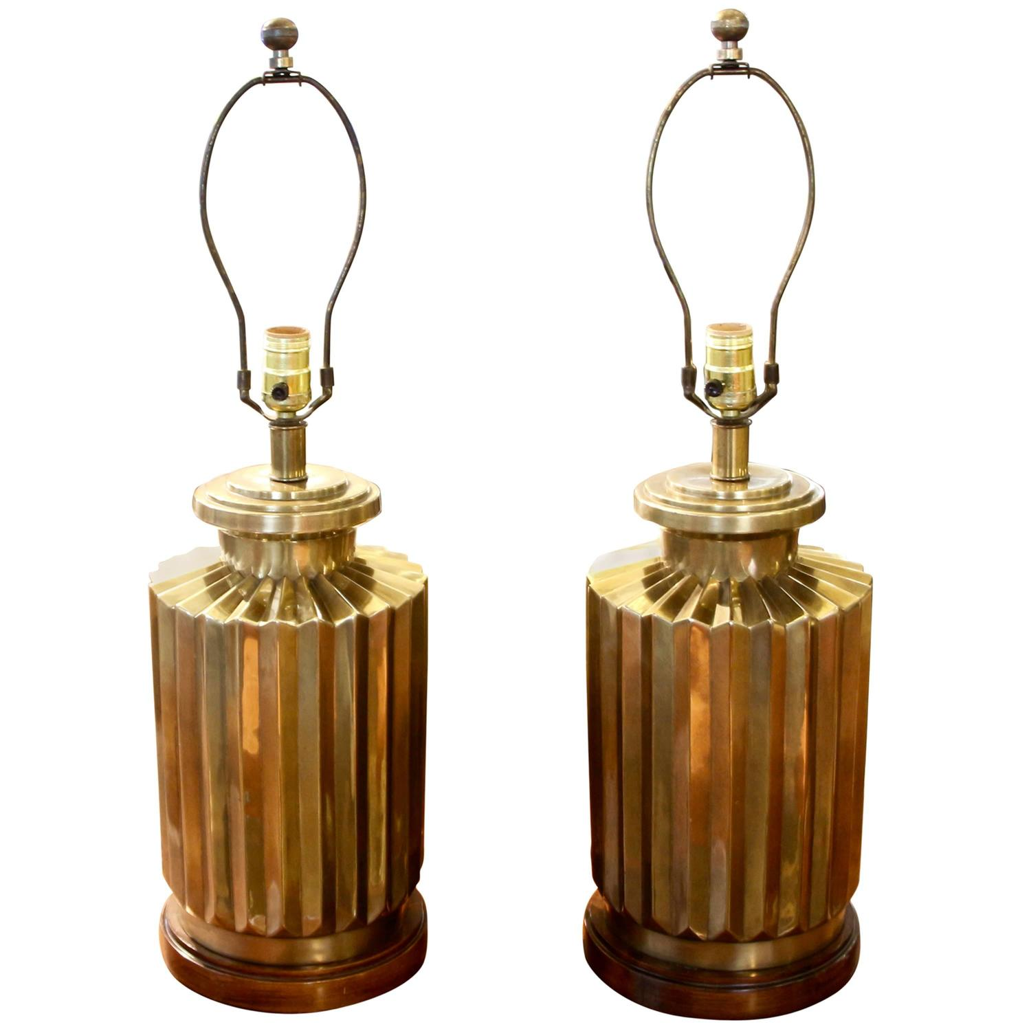 Vintage frederick cooper brass lamps at 1stdibs