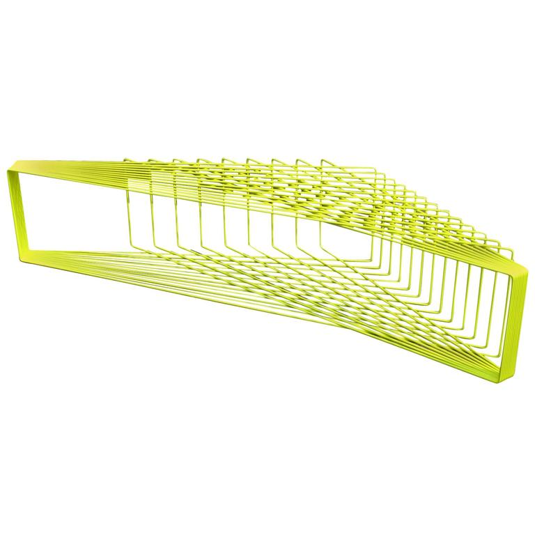FIELD - Powder-Coated Steel Geometric Sculptural Bench Table