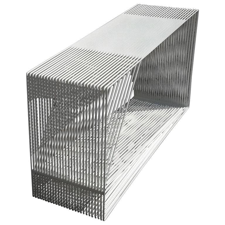 LOOP - Powder-Coated Steel Geometric Sculptural Console Table