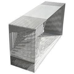 LOOP - Powder-Coated Steel Geometric Sculptural Console Table