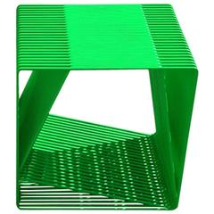 LOOP - Powder-Coated Steel Minimal Geometric Sculptural Side Table