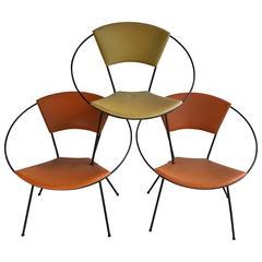 "Classic Mid-Century Modern Iron ""Hoop"" Chair after Salterini"