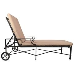 Venetian Pattern Chaise Longue by Brown Jordan