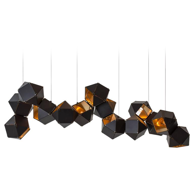 Welles Long Modular Chandelier In Customizable Dimensions