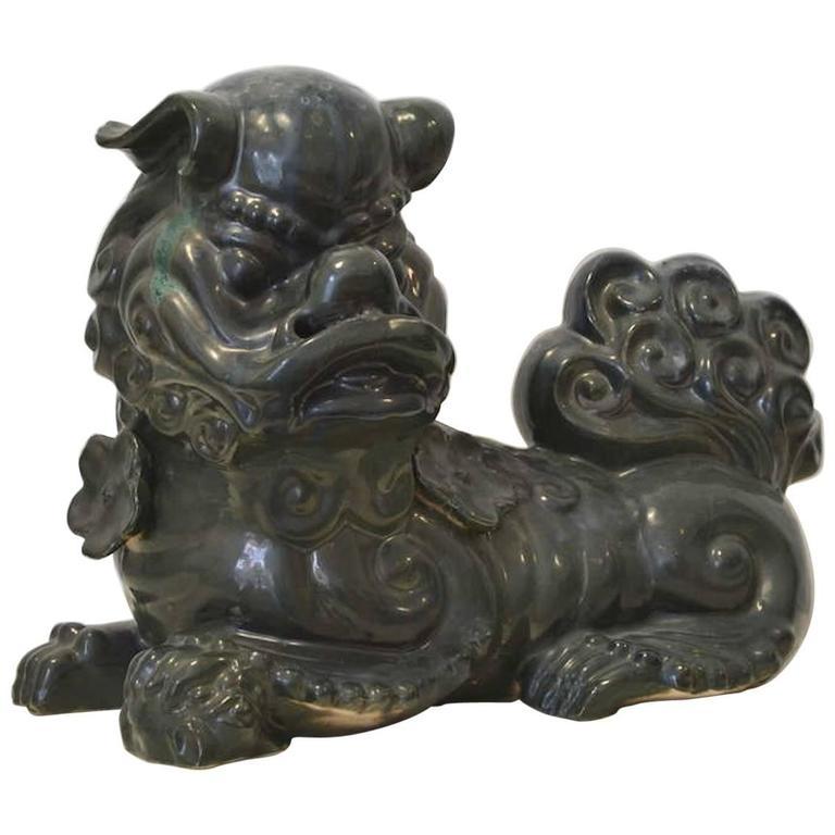 Hollywood Regency Ceramic Foo Dog