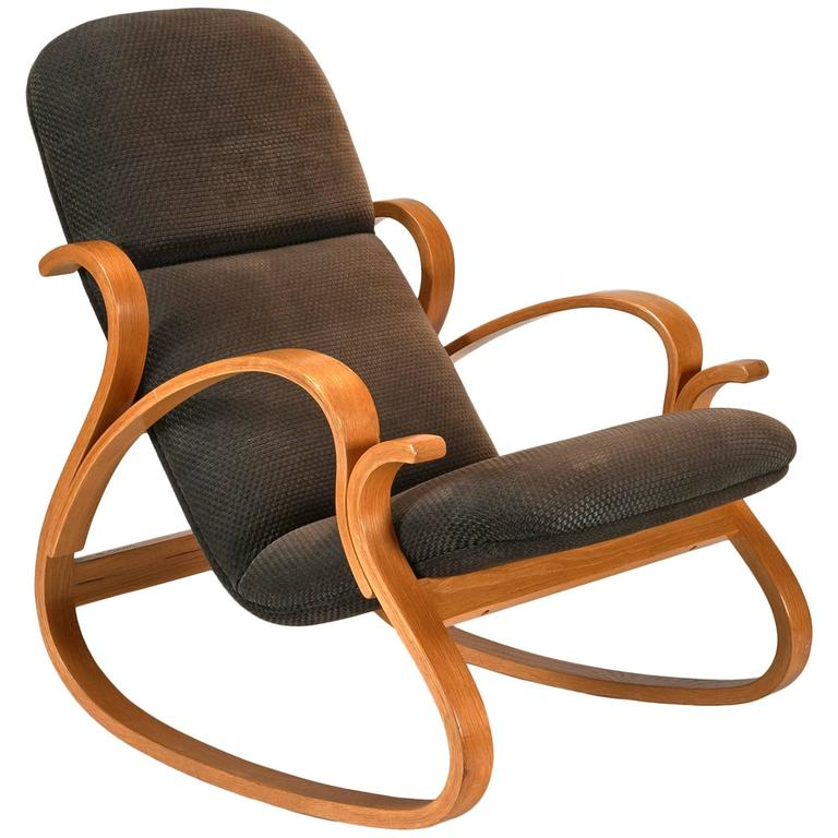 Early Bentwood Rocking Chair By Peter Danko For Sale