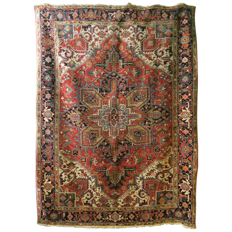 Antique Persian Heriz Carpet For Sale At 1stdibs
