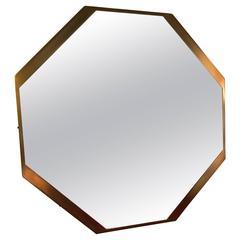 Octagonal Brass Mirror, 1960s