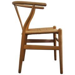 Iconic vintage Danish Hans J. Wegner CH24 'Wishbone' Chair