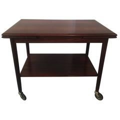 1950s Rio Rosewood Dyrlund Trolley with Leaves