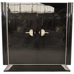 Art Deco Cabinet High Gloss Black