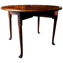 Antique Mahogany Drop-Leaf Victorian 19th Century Dining Table
