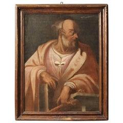 "18th Century Italian Painting Depicting ""Saint Peter"""