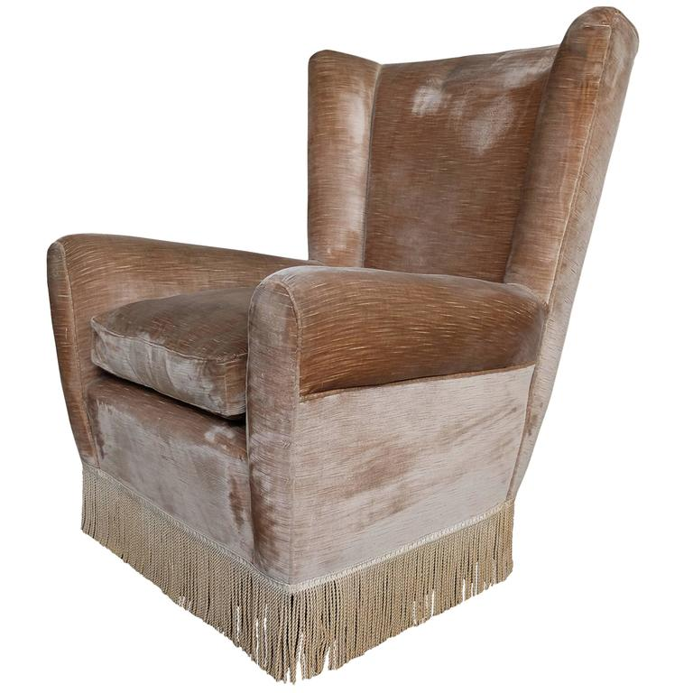 cozy wingback chair cozy wingback armchair in the style of paolo buffa from 13569 | 5891813 l
