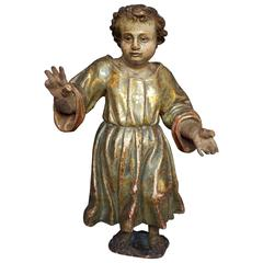 "17th Century Spanish Christ Child ""Santo"""