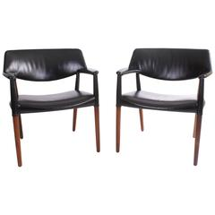 Ejner Larsen and Aksel Bender Madsen Pair of Armchairs in Brazilian Rosewood