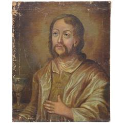 18th Century Russian Painting of a Saint