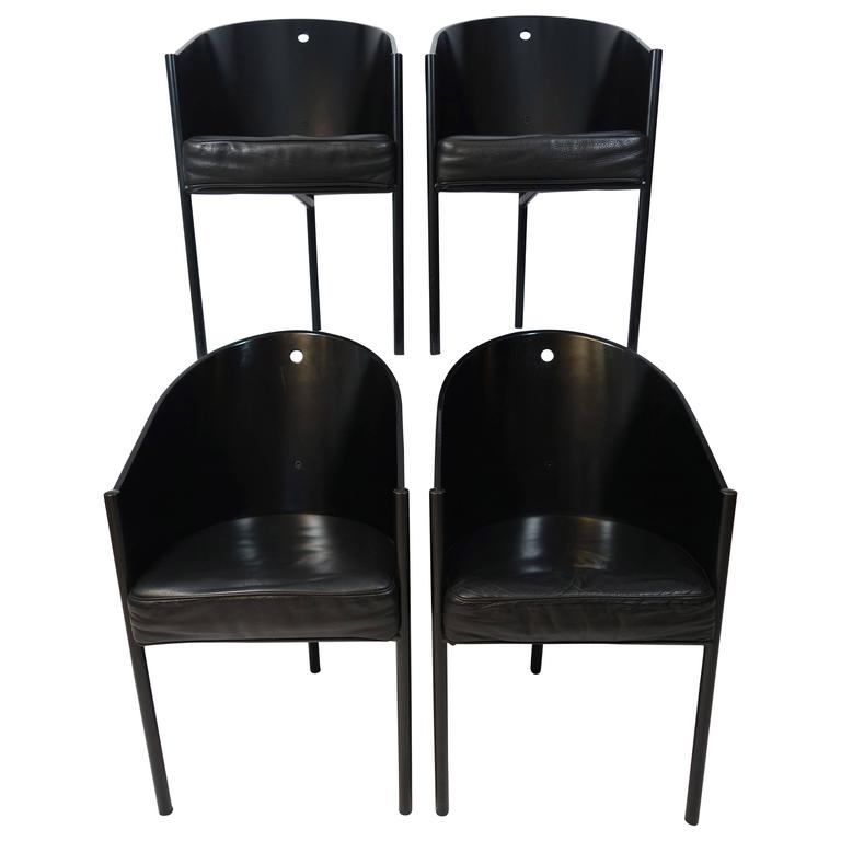 Set of Four Costes Chairs by Philippe Starck for Driade