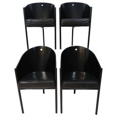 Set of Four Postmodern Chairs Costes by Philippe Starck for Driade