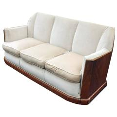 Art Deco Walnut Veneer Sofa