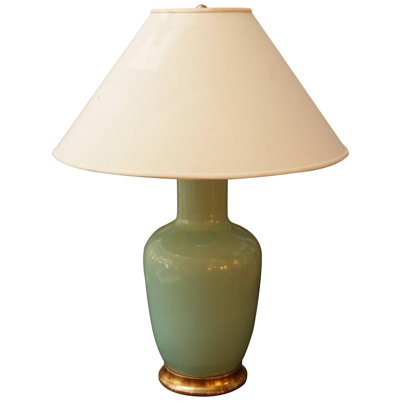 christopher spitzmiller celadon ginger jar lamp for sale. Black Bedroom Furniture Sets. Home Design Ideas