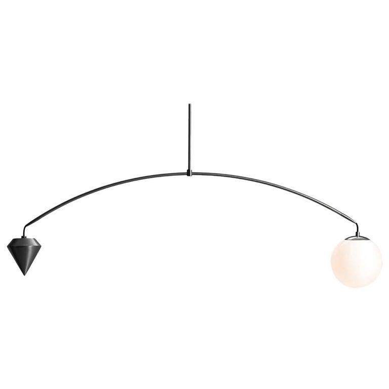 Anna Karlin Satin Black Arc Light For Sale