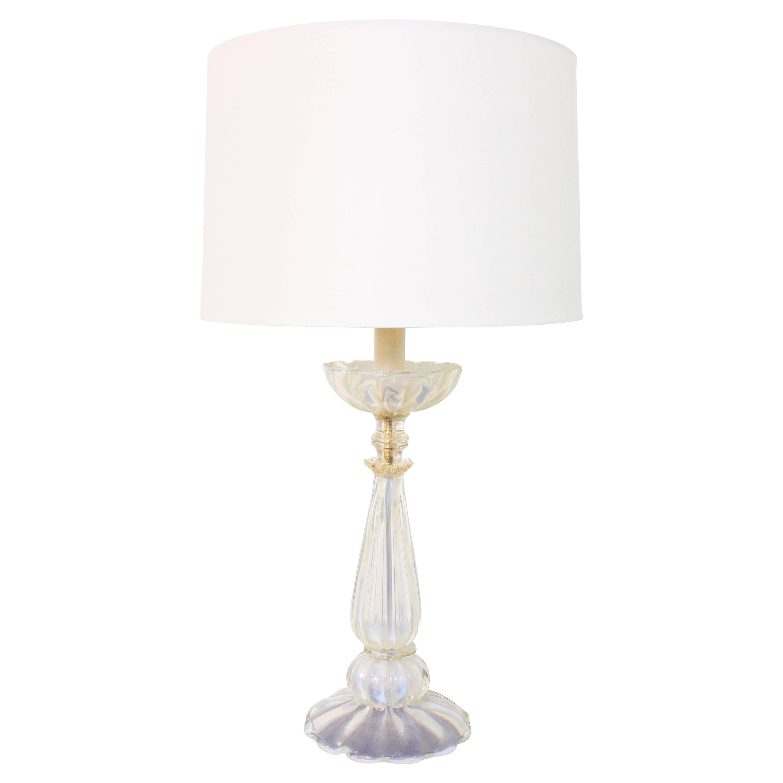 Italian Murano Glass Table Lamp