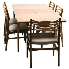 Teak 1950s Dining Room Set by Johannes Andersen, Denmark