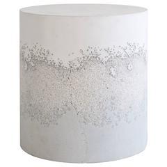 White Cement, Crystal Quartz and Powdered Glass Drum by Fernando Mastrangelo