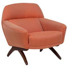 Danish Leif Hansen Attributed Upholstered Armchair, 1950s