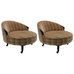"1950 Adrian Pearsall Pair of Round ""Havana"" Chairs"