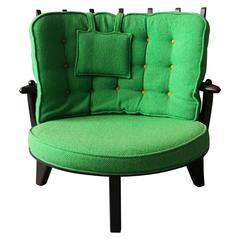 "French, 1950s ""Tricoteuse"" Armchair by Guillerme et Chambron"